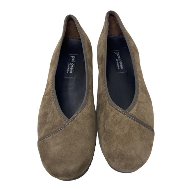 Item - Brown Suede Wedge Flats Size US 7.5 Regular (M, B)