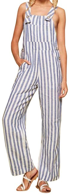 Item - Blue White Striped Farmer Alls Romper/Jumpsuit