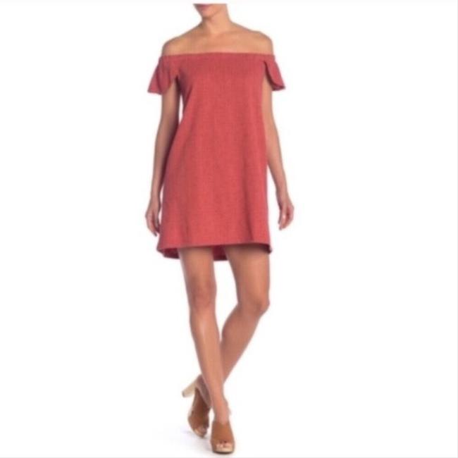 Madewell Red XL Nwot Eloise Off The Shoulder Mid-length Short Casual Dress Size 16 (XL, Plus 0x) Madewell Red XL Nwot Eloise Off The Shoulder Mid-length Short Casual Dress Size 16 (XL, Plus 0x) Image 2