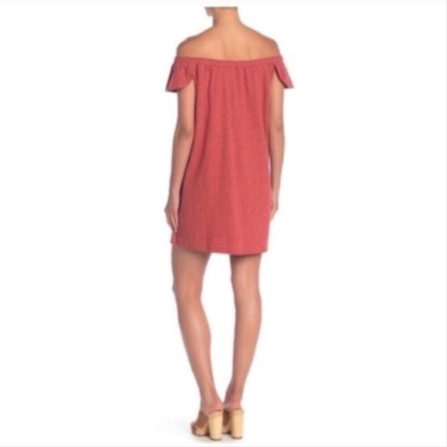 Madewell Red XL Nwot Eloise Off The Shoulder Mid-length Short Casual Dress Size 16 (XL, Plus 0x) Madewell Red XL Nwot Eloise Off The Shoulder Mid-length Short Casual Dress Size 16 (XL, Plus 0x) Image 3