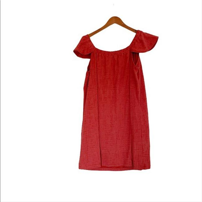 Madewell Red XL Nwot Eloise Off The Shoulder Mid-length Short Casual Dress Size 16 (XL, Plus 0x) Madewell Red XL Nwot Eloise Off The Shoulder Mid-length Short Casual Dress Size 16 (XL, Plus 0x) Image 4