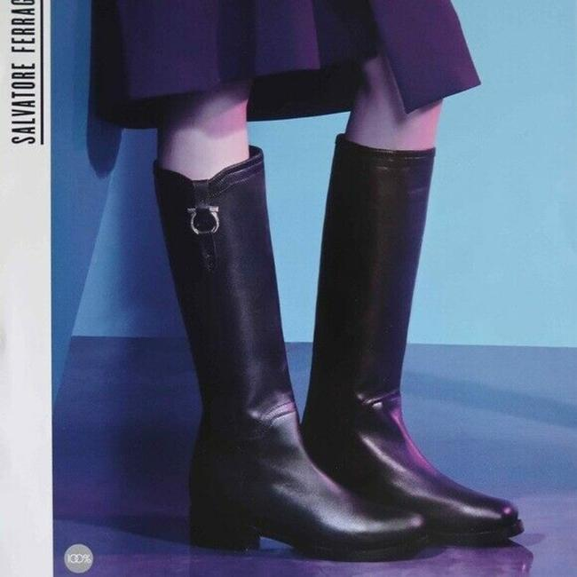 Item - Brown Fersea Gancini Knee High Riding Leather Boots/Booties Size US 6 Regular (M, B)