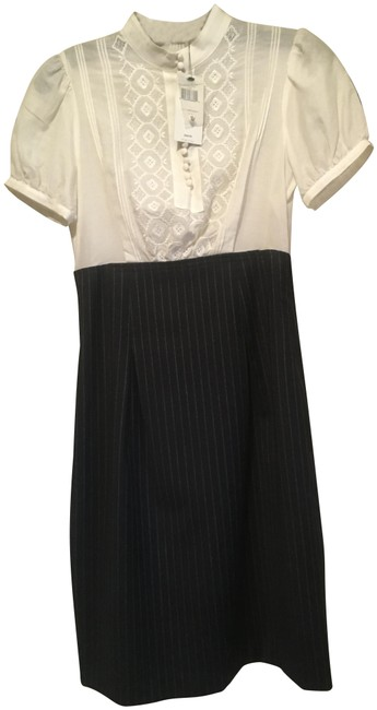 Item - Black and White Fitted Short Casual Dress Size 0 (XS)
