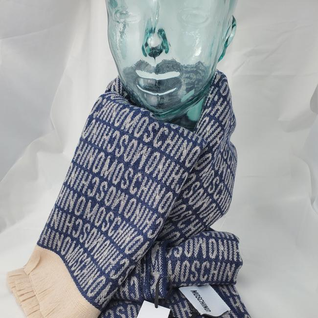 Item - Blue Tan Logo Wool Blanket Throw Scarf/Wrap