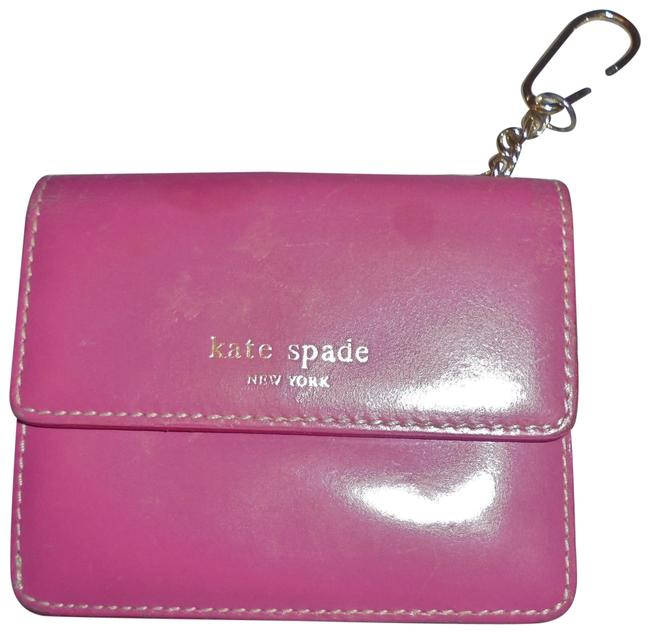 Item - Pink and Red Faux Leather Wristlet
