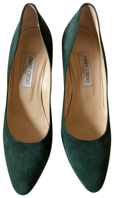 Item - Hunter Green Suede Romy 85mm Pointed Pumps Size EU 40 (Approx. US 10) Regular (M, B)