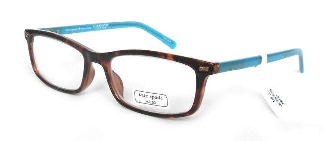 Item - Brown/Turquoise Jodie2 Reading Glasses with Soft Case +2.50