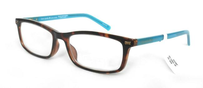 Item - Brown/Turquoise Jodie2 Reading Glasses with Soft Case +2.00