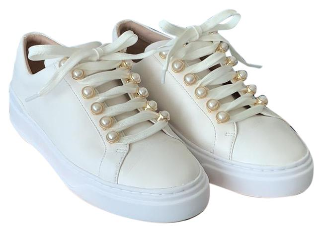 Item - White Excelsa Napa Leather Sneakers Size US 6 Regular (M, B)