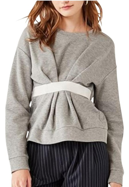 Item - Gray Cinched Cropped Sweater S Sweatshirt/Hoodie Size 4 (S)