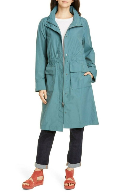 Item - Green Dragonfly Stand Collar Organic Cotton Blend Coat Size 10 (M)