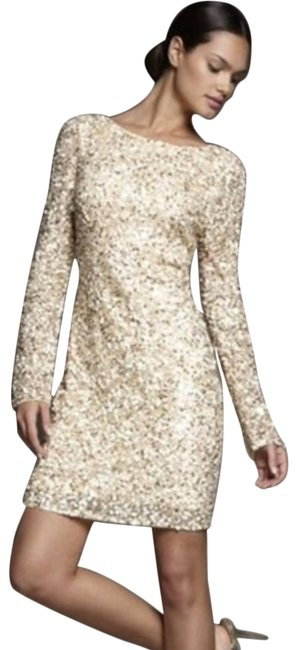 Item - Gold XS Long Sleeve Sequin Party Cocktail Dress Size 0 (XS)