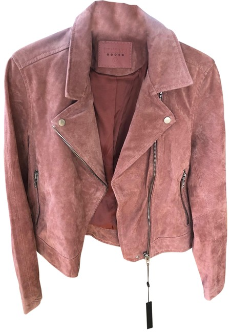 Item - Coral (Looks Like A Rusty Rose Pink In Person) Ceder Suede Jacket Size 8 (M)