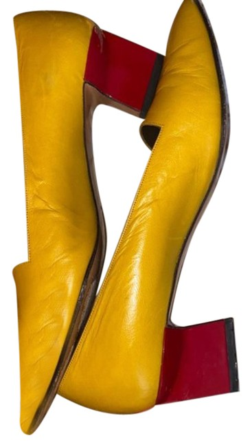 Item - Red and Yellow Vintage Heels Formal Shoes Size US 9 Regular (M, B)