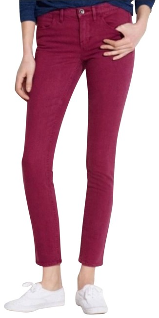Item - Red Ankle Dusty Burgundy Skinny Jeans Size 27 (4, S)