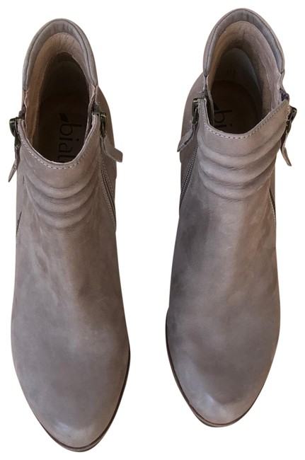 Item - Taupe Zip Wedge Boots/Booties Size US 9 Regular (M, B)