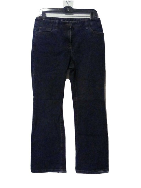 "Item - Blue 10"" High Rise Dark Denim Straight Leg Jeans Size 32 (8, M)"