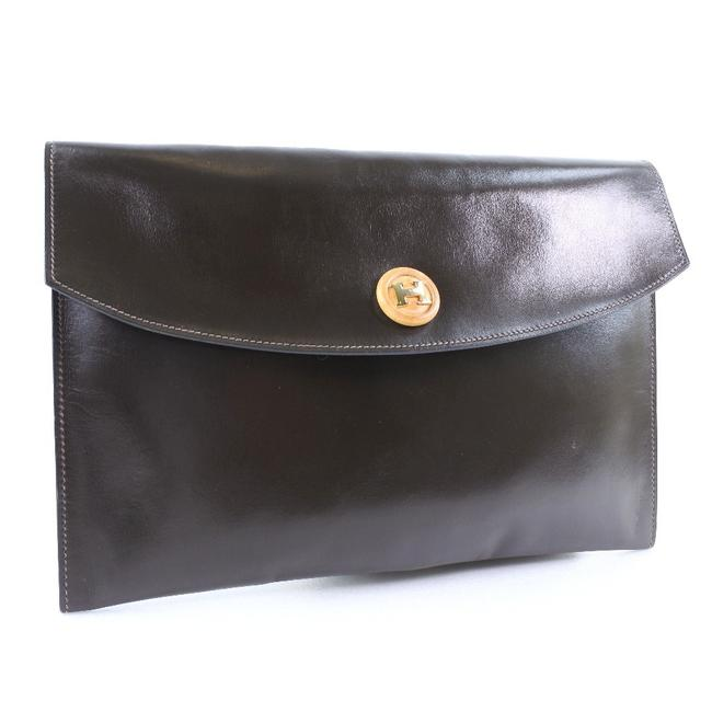 Item - Pochette Rio Second Vintage Calf Unisex Brown Leather Clutch