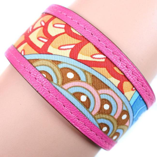 Item - Multi-color / Pink Petit Ash Bangle Canvas Multi Ladies Bracelet