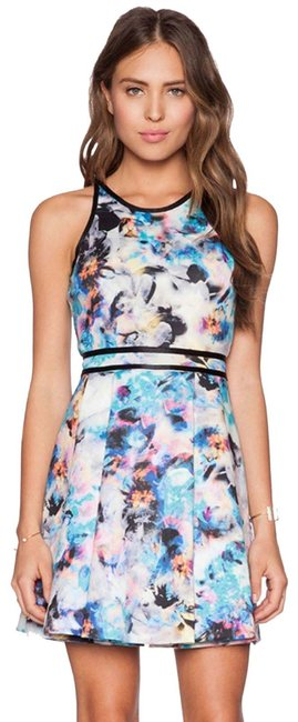 Item - Multicolor Emmy Fit Flare Short Casual Dress Size 4 (S)