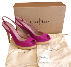 Cole Haan Nike Air Leather Sole pink Pumps