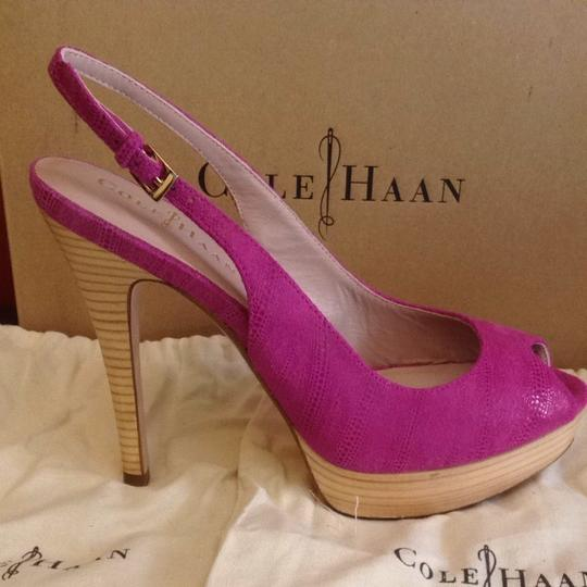 Cole Haan Nike Air Leather Dust Bag Heel Tips pink Pumps