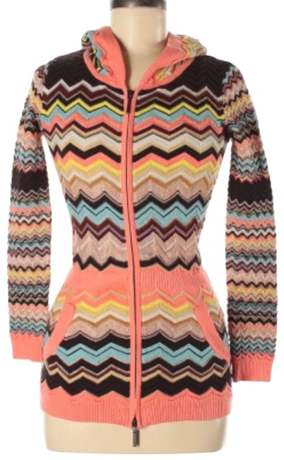 Item - Up Chevron Hooded Med Pink Sweater