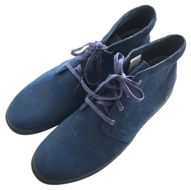 Item - Blue - Men's Leather High Tops Boots/Booties Size US 13 Regular (M, B)