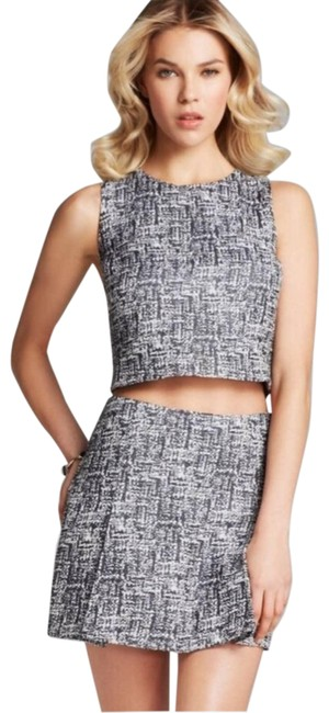 Item - Gray Mintelle Tabby Tweed Double Vent Front Skirt Size 12 (L, 32, 33)