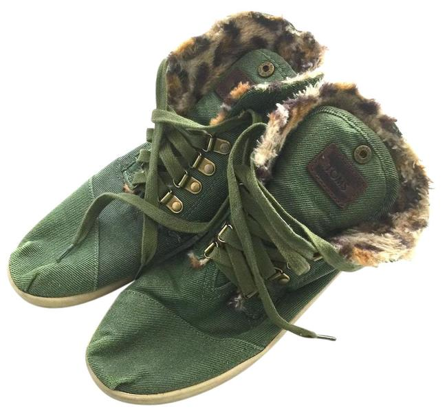 TOMS Green Highland Botas Boots/Booties Size US 8.5 Regular (M, B) TOMS Green Highland Botas Boots/Booties Size US 8.5 Regular (M, B) Image 1