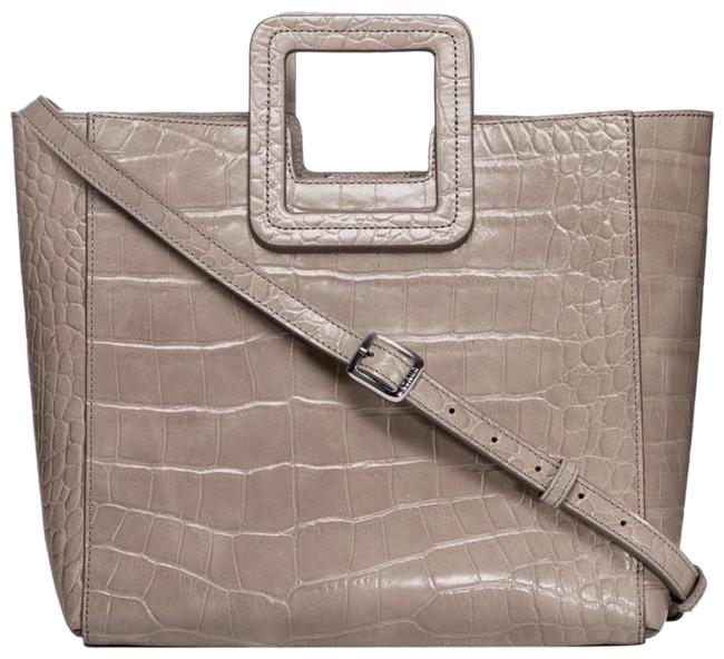 Item - Medium Shirley Grey Croc Embossed Calfskin Leather Tote