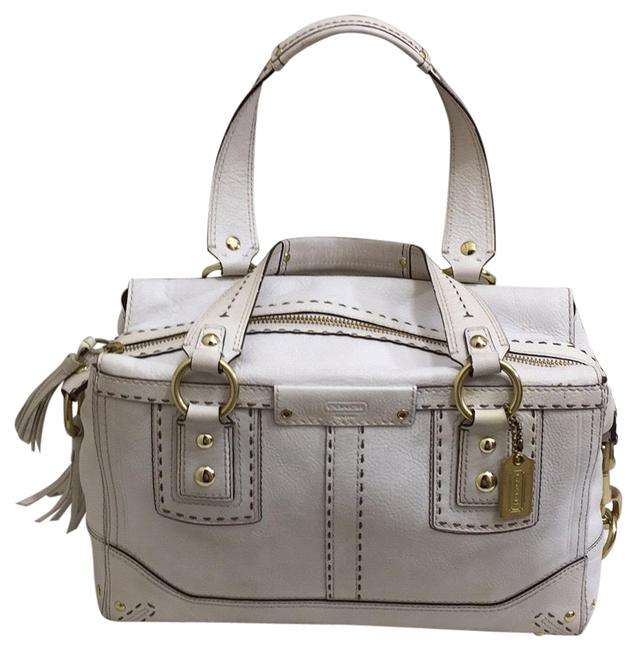 Item - 65th Anniversary Hamptons Andrea White Leather Satchel