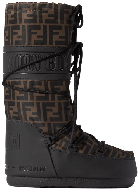 Item - Black/Brown Ff Zucca Monogram Shell Rubber The Moon Snow Ski Eu42-44 Boots/Booties Size EU 42 (Approx. US 12) Wide (C, D)