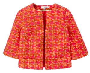 Boden Strawberry Fields Pink & Red Check Jacket