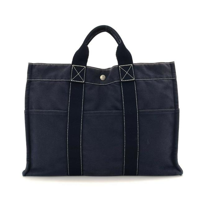 Item - Fourre Mm Tout Navy Canvas Tote