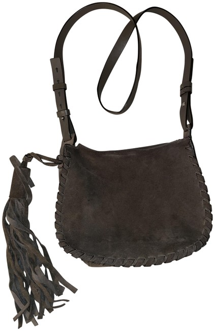 Item - Taupe Suede Leather Cross Body Bag
