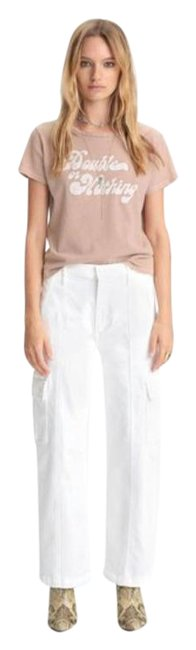 Item - Fairest Of Them All (White) The Rambler Cargo Ankle Trouser/Wide Leg Jeans Size 24 (0, XS)