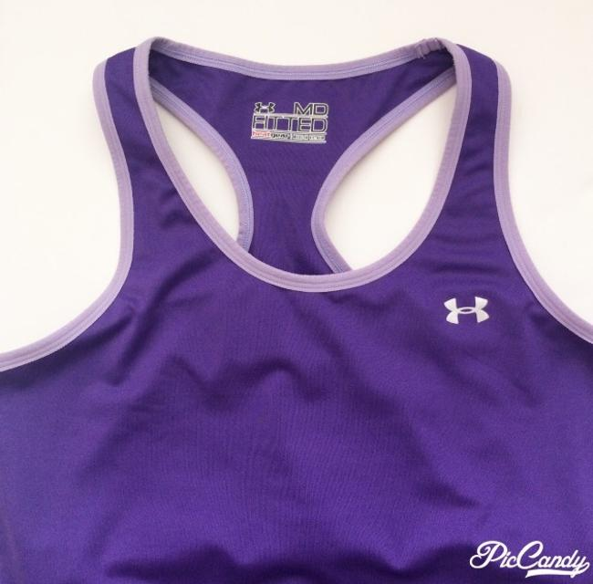 Under Armour Racer Back Top With Built In Bra