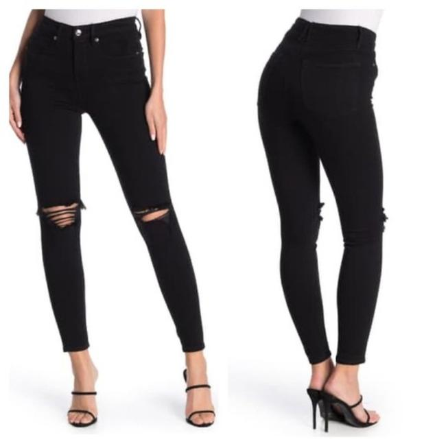 Item - Black 600 Distressed Goodlegs Skinny Jeans Size 27 (4, S)