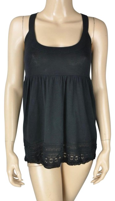 Item - Black Babydoll Sweater Knit Shirt Camisole Tank Top/Cami Size 4 (S)