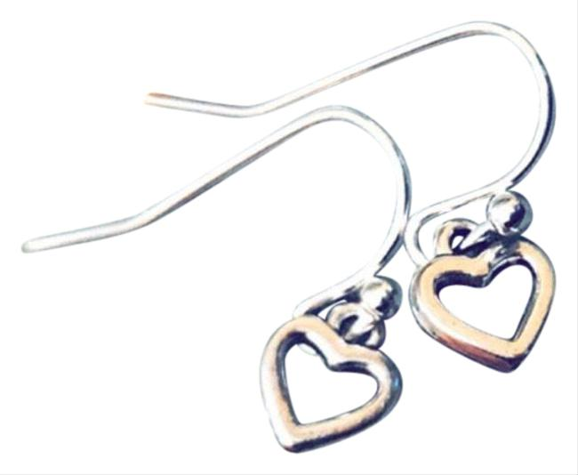 Item - Silver Open Heart Dangling Earrings