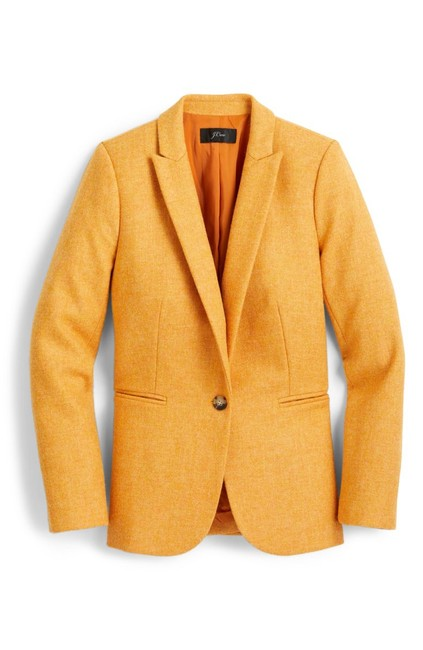Item - Orange Parke Herringbone Wool Blazer Size 4 (S)