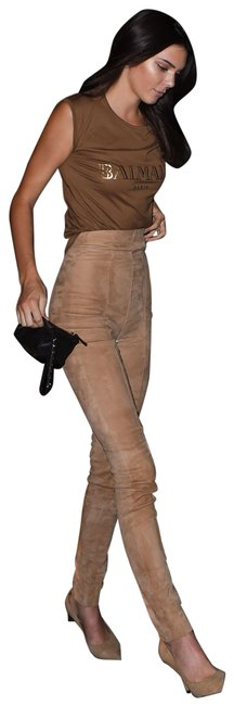 Item - Brown Greenish 36 Suede Pants Size 4 (S, 27)