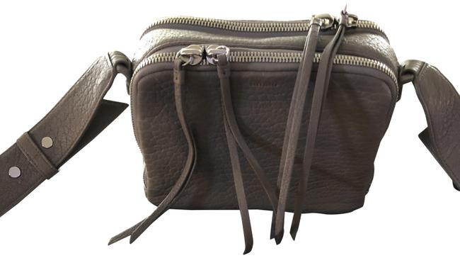 Item - Pebbled Gray Leather Cross Body Bag