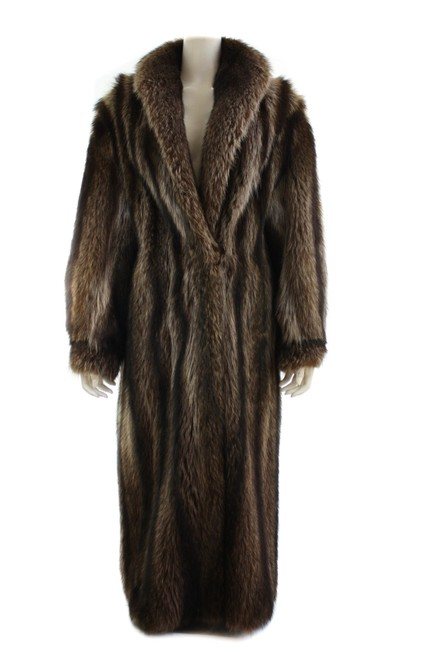 Item - Brown Raccoon Full Length Coat Size OS (one size)
