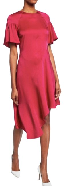 Item - Pink Red Lilly Mid-length Short Casual Dress Size 2 (XS)