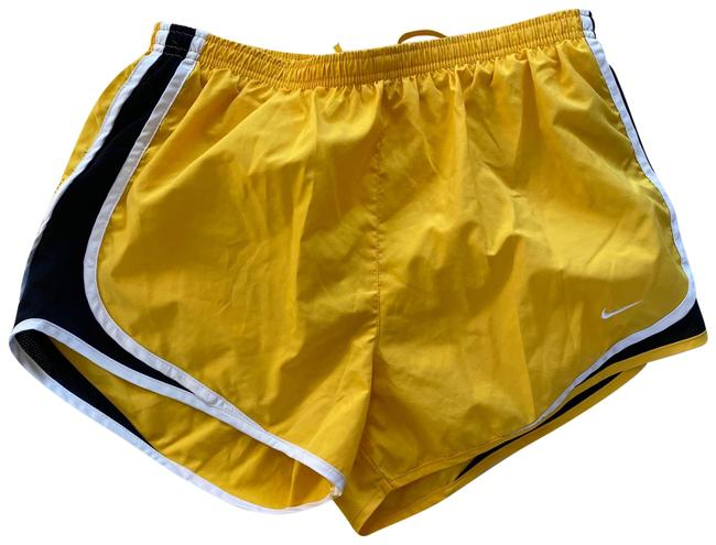 Item - Yellow Black White L Livestrong Mesh Athletic Activewear Bottoms Size 12 (L)