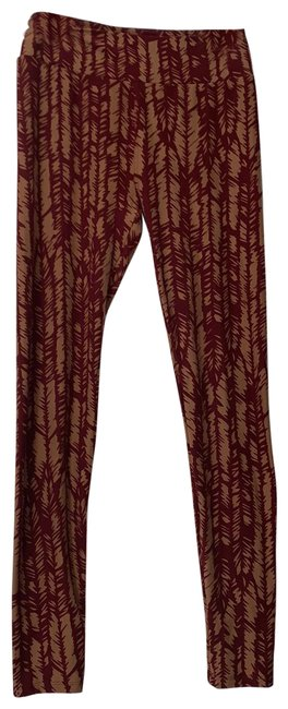 Item - Maroon Yellow Gold Red Leggings Size OS (one size)