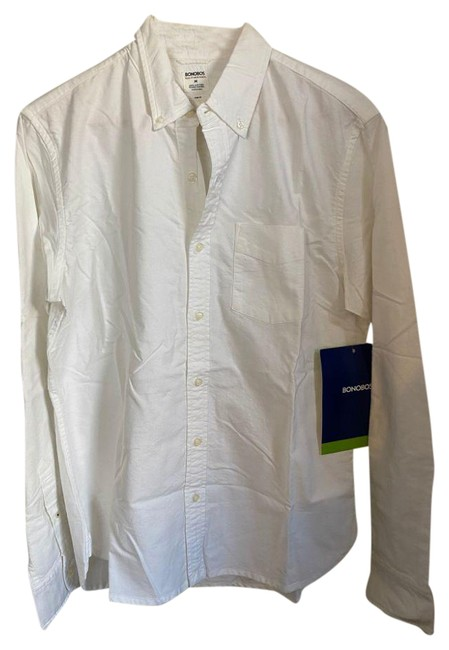 Item - White New Long Sleeves Classic Medium Button-down Top Size 10 (M)