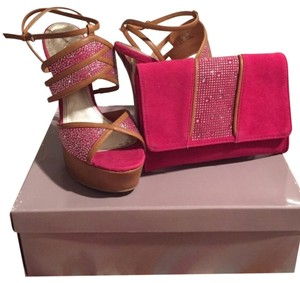 Bakers High Heels Fuchsia Platforms